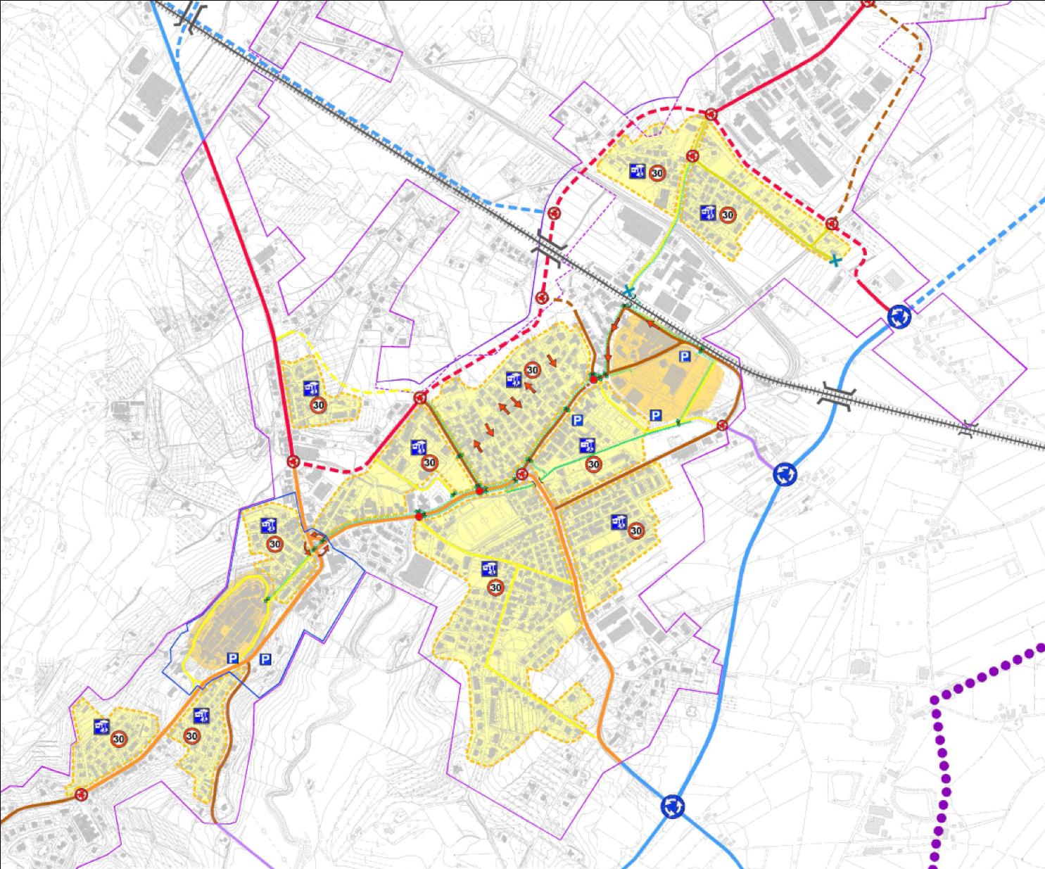 Studio di traffico allegato al regolamento urbanistico di Torrita di Siena