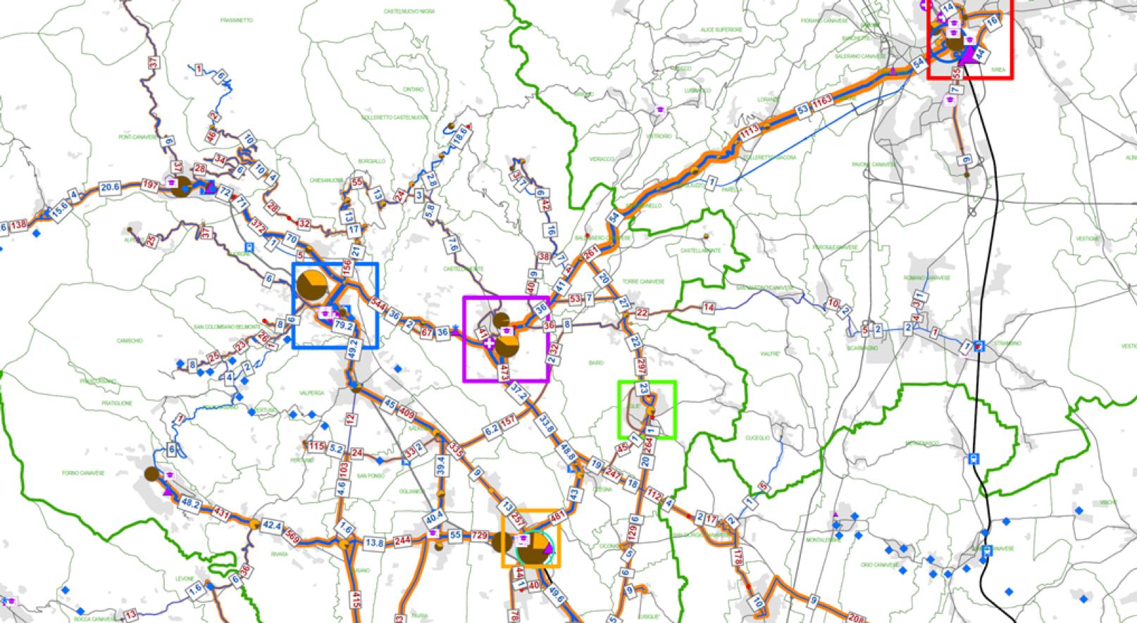 Razionalizzazione  della rete TPL extraurbana della provincia di Torino